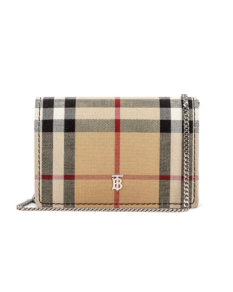 Image 1 of Burberry Jessie Card Case Crossbody Bag in Black