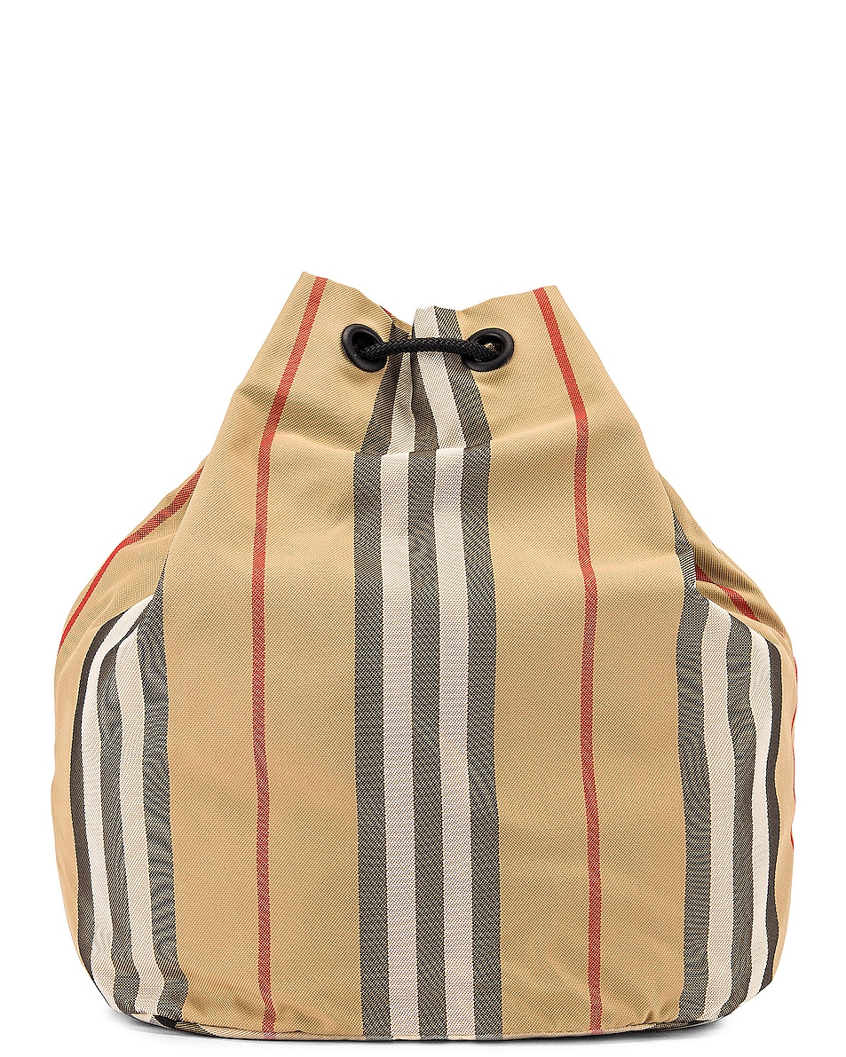 Image 3 of Burberry Phoebe Stripe Pouch in Archive Beige