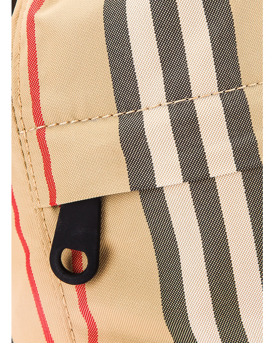 Image 7 of Burberry Phoebe Stripe Pouch in Archive Beige