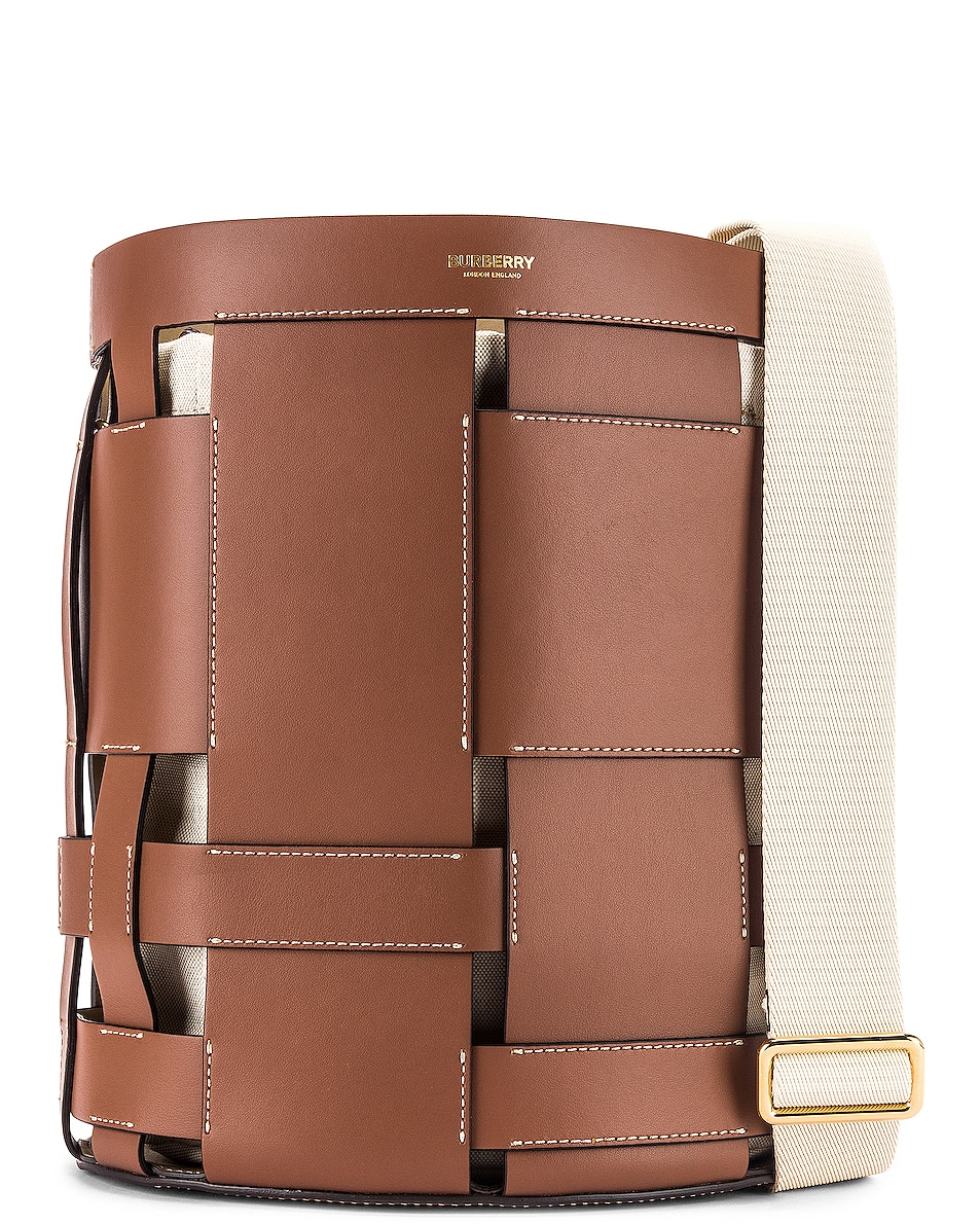 Image 1 of Burberry Small Foster Bucket Bag in Malt Brown