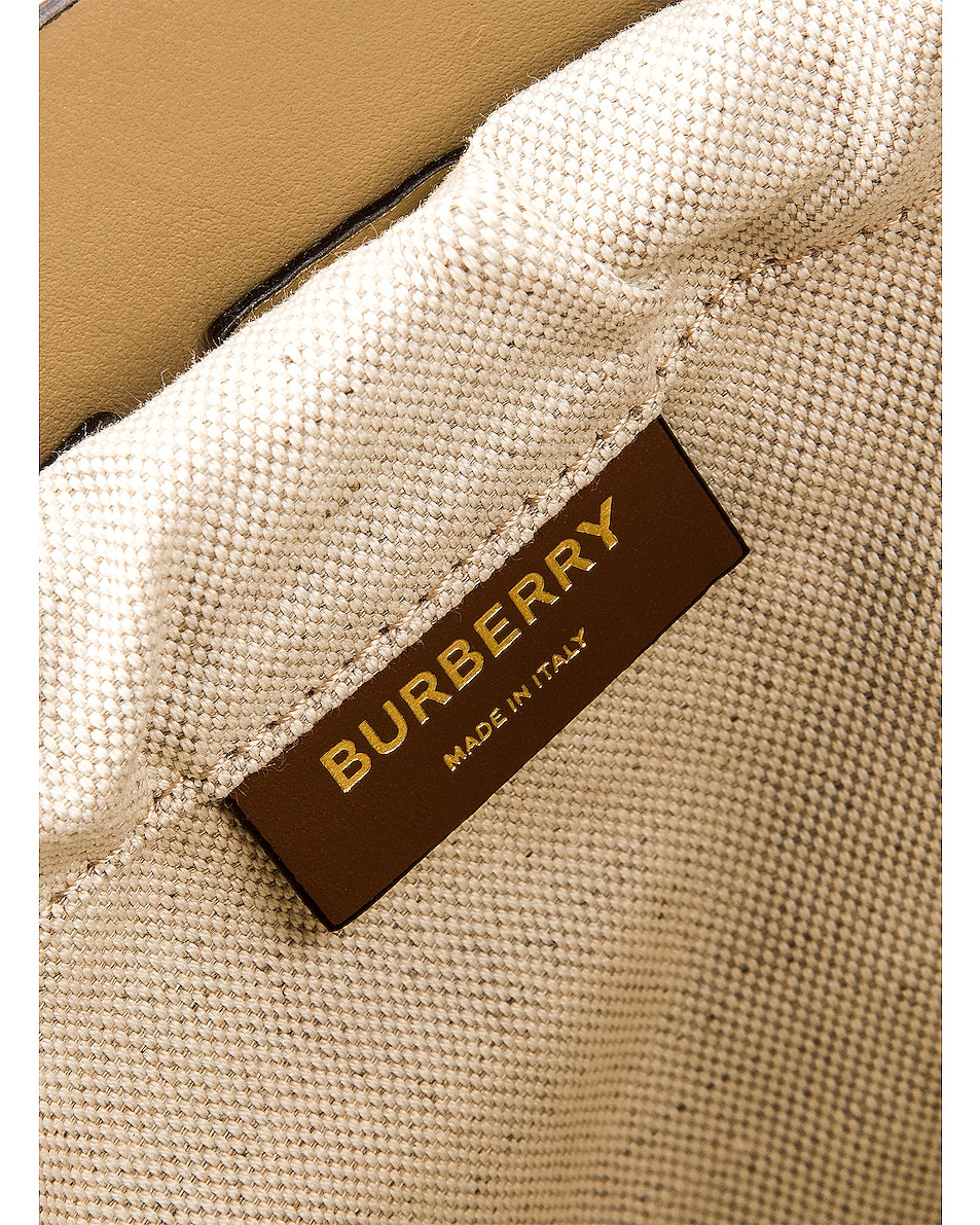 Image 7 of Burberry Small Foster Bucket Bag in Malt Brown