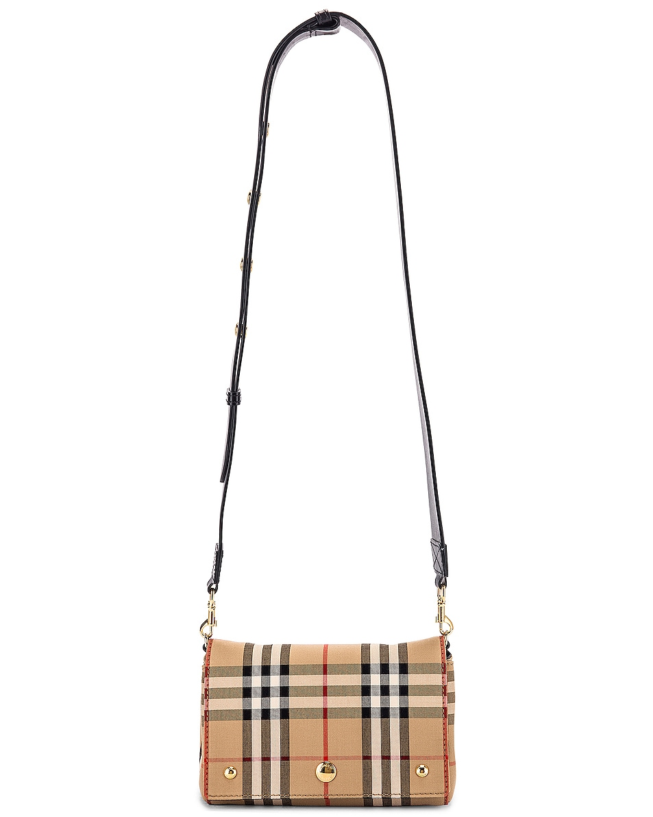Image 6 of Burberry Small Hackberry Bag in Archive Beige & Black