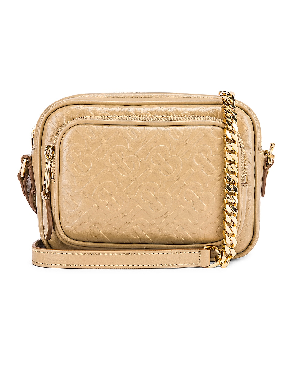 Image 1 of Burberry Small Monogram Camera Bag in Honey
