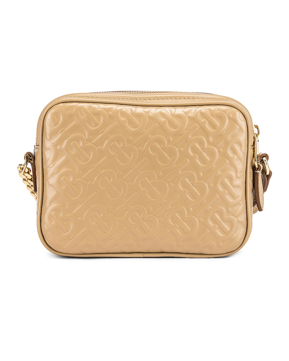 Image 3 of Burberry Small Monogram Camera Bag in Honey