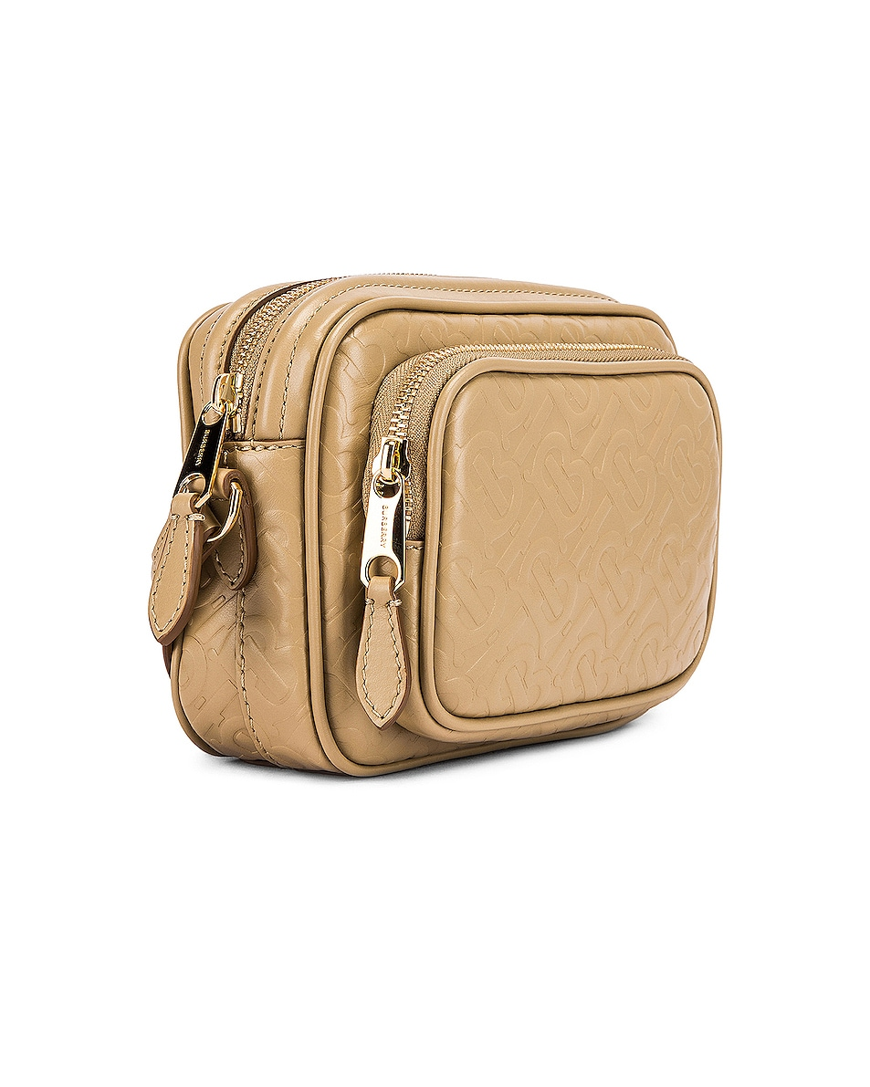 Image 4 of Burberry Small Monogram Camera Bag in Honey