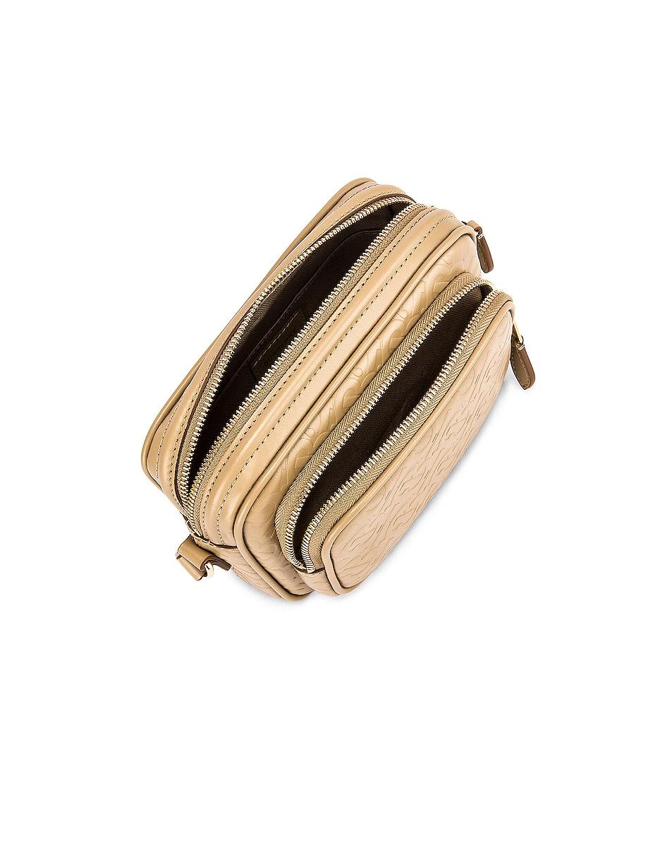 Image 5 of Burberry Small Monogram Camera Bag in Honey