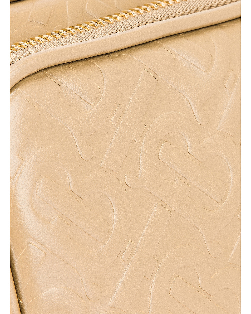 Image 8 of Burberry Small Monogram Camera Bag in Honey