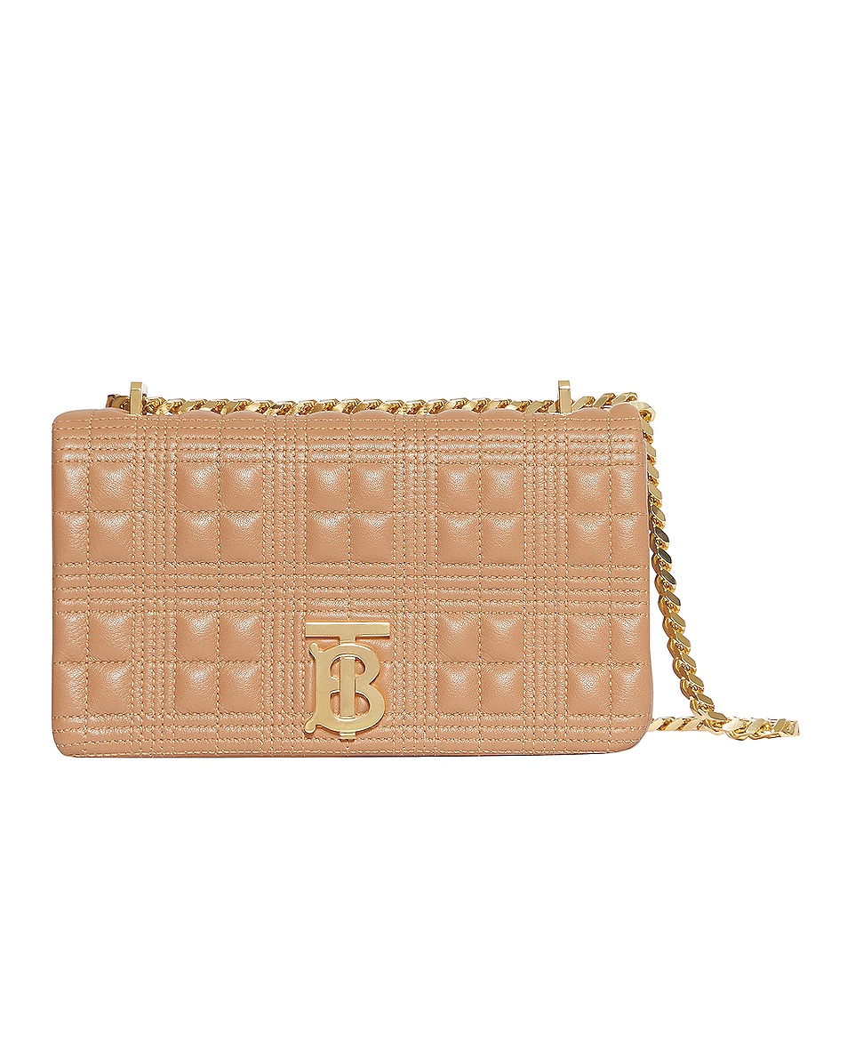Image 1 of Burberry Small Soft Leather Crossbody Bag in Soft Camel