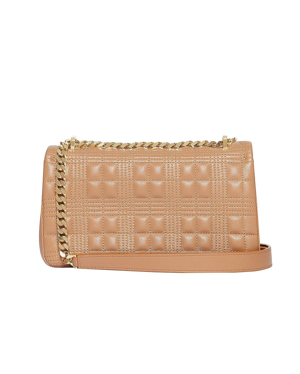 Image 3 of Burberry Small Soft Leather Crossbody Bag in Soft Camel