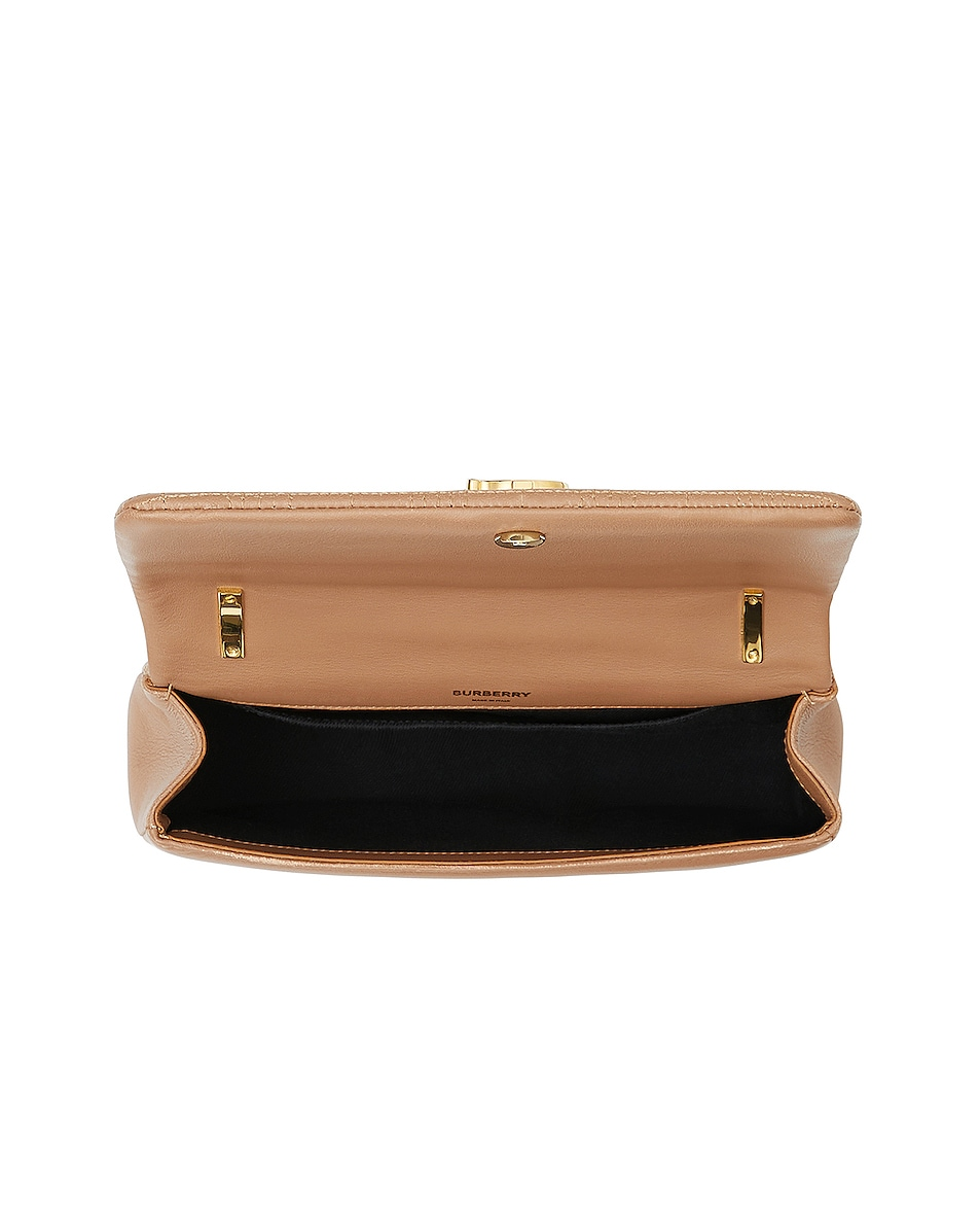 Image 5 of Burberry Small Soft Leather Crossbody Bag in Soft Camel