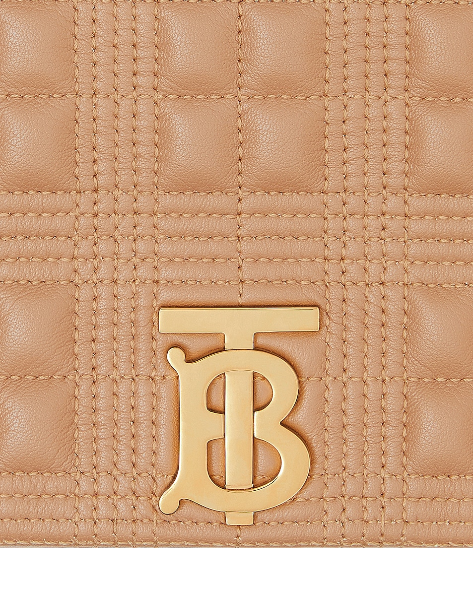 Image 6 of Burberry Small Soft Leather Crossbody Bag in Soft Camel