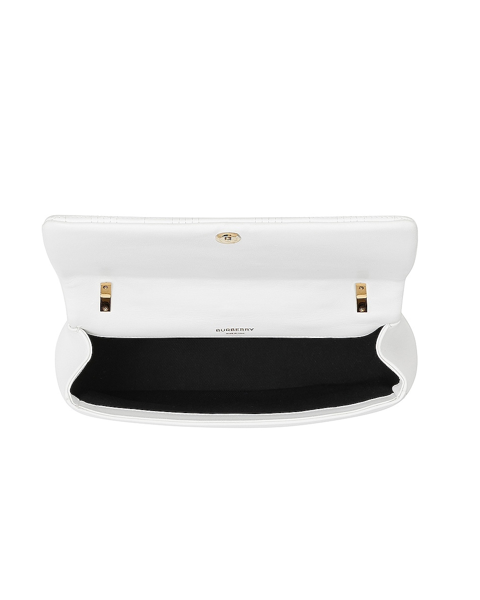 Image 4 of Burberry Small Soft Leather Crossbody Bag in White