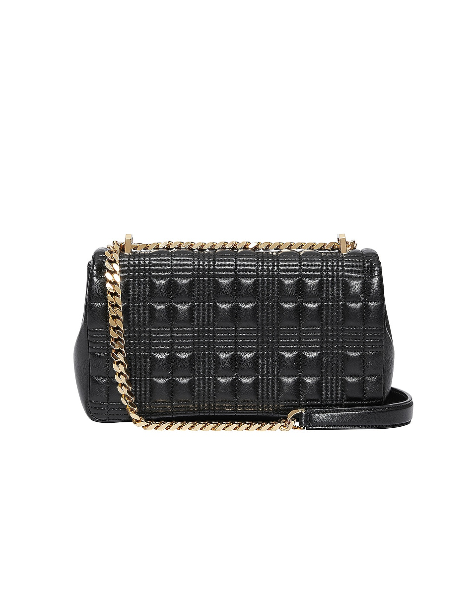Image 2 of Burberry Small Soft Leather Crossbody Bag in Black & Black