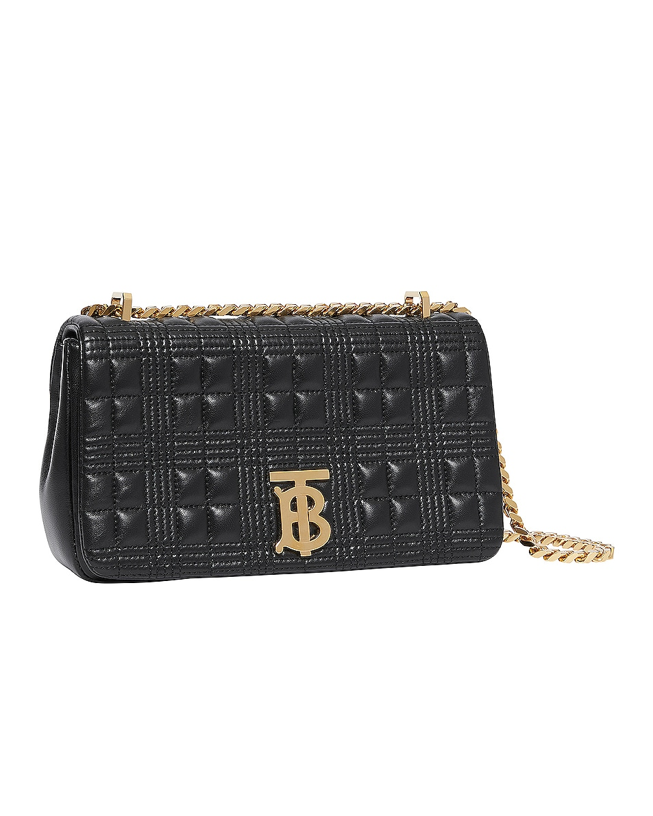 Image 3 of Burberry Small Soft Leather Crossbody Bag in Black & Black