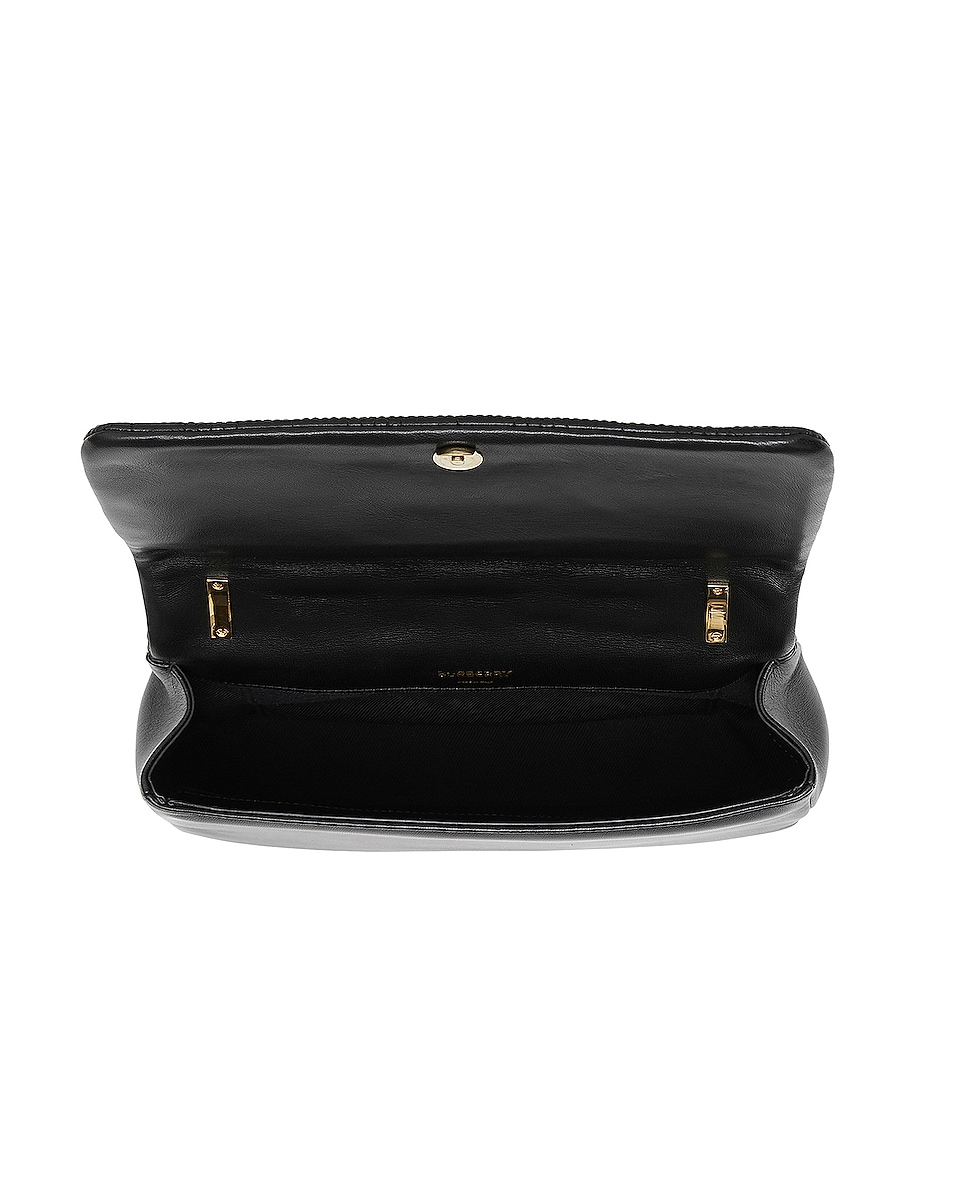 Image 4 of Burberry Small Soft Leather Crossbody Bag in Black & Black