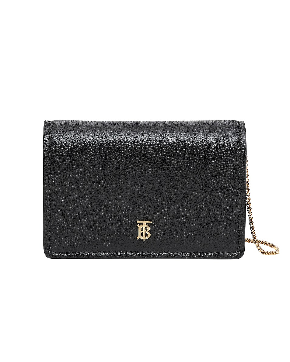 Image 1 of Burberry Jessie Card Case Crossbody Bag in Black