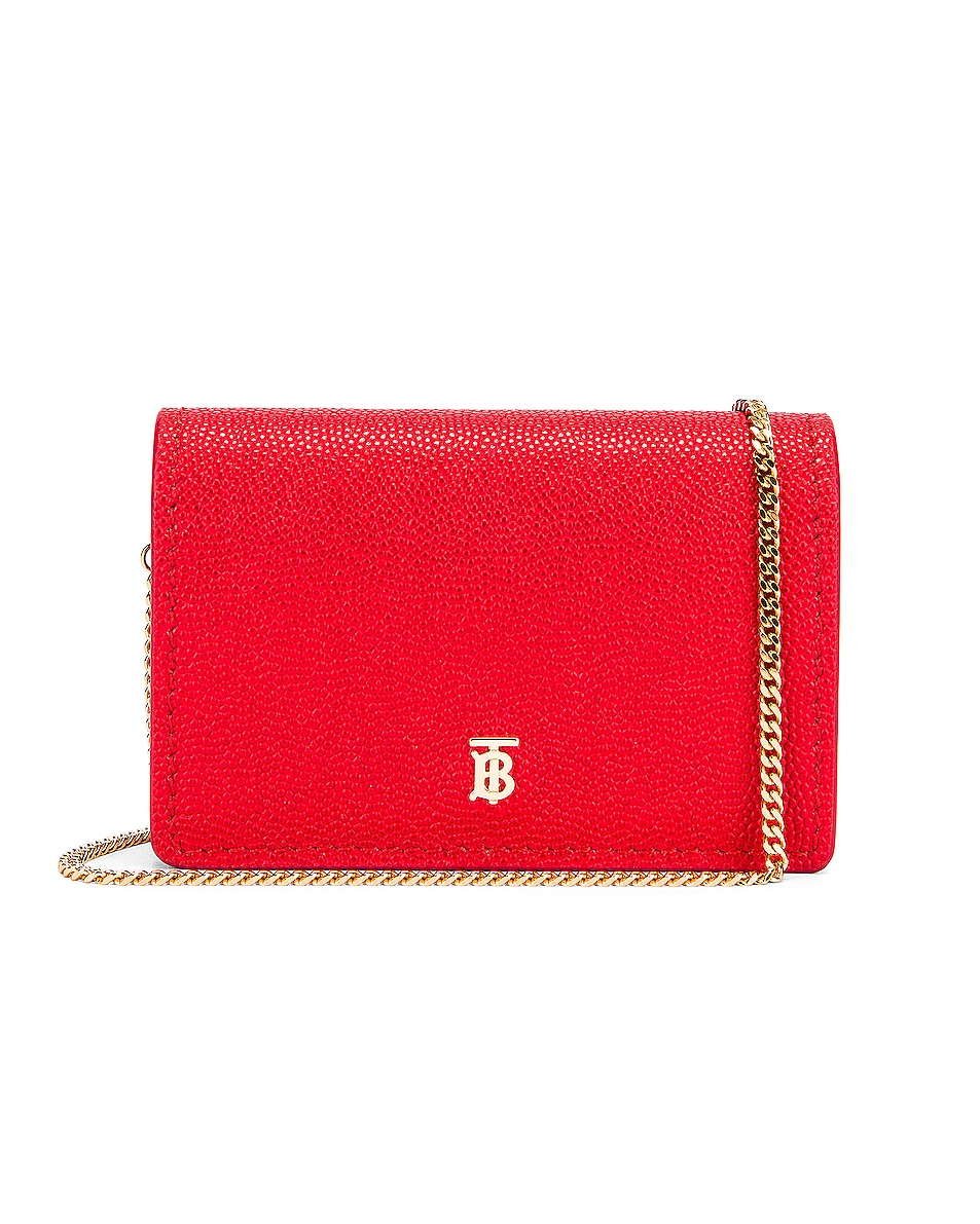 Image 1 of Burberry Jessie Card Case Crossbody Bag in Bright Red
