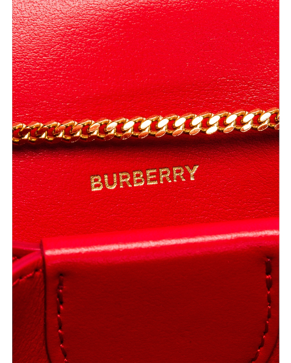 Image 7 of Burberry Jessie Card Case Crossbody Bag in Bright Red