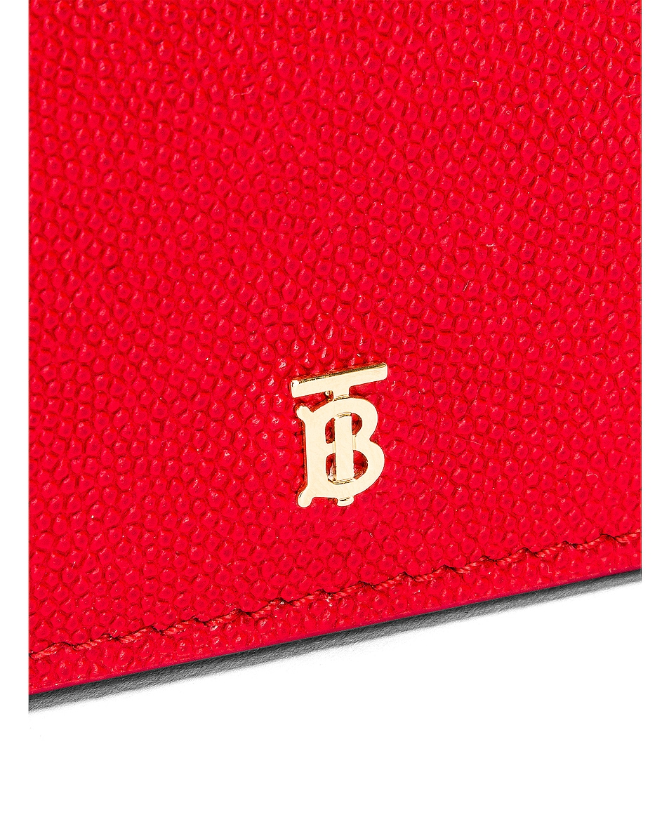 Image 8 of Burberry Jessie Card Case Crossbody Bag in Bright Red
