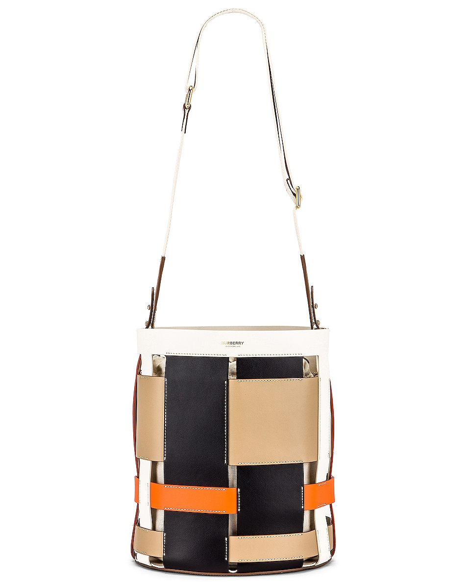 Image 6 of Burberry Small Foster Bucket Bag in Honey