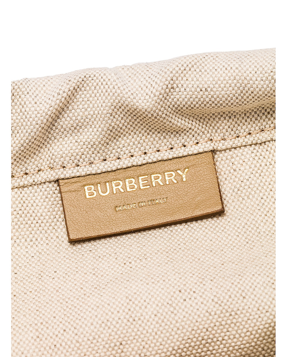 Image 7 of Burberry Small Foster Bucket Bag in Honey