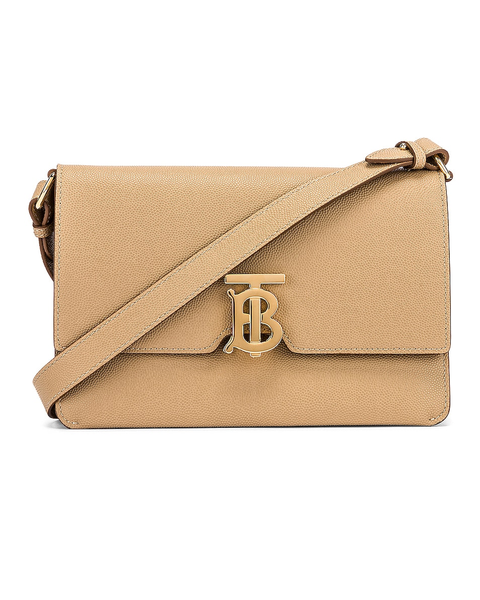 Image 1 of Burberry Albion Small Grainy Bag in Archive Beige