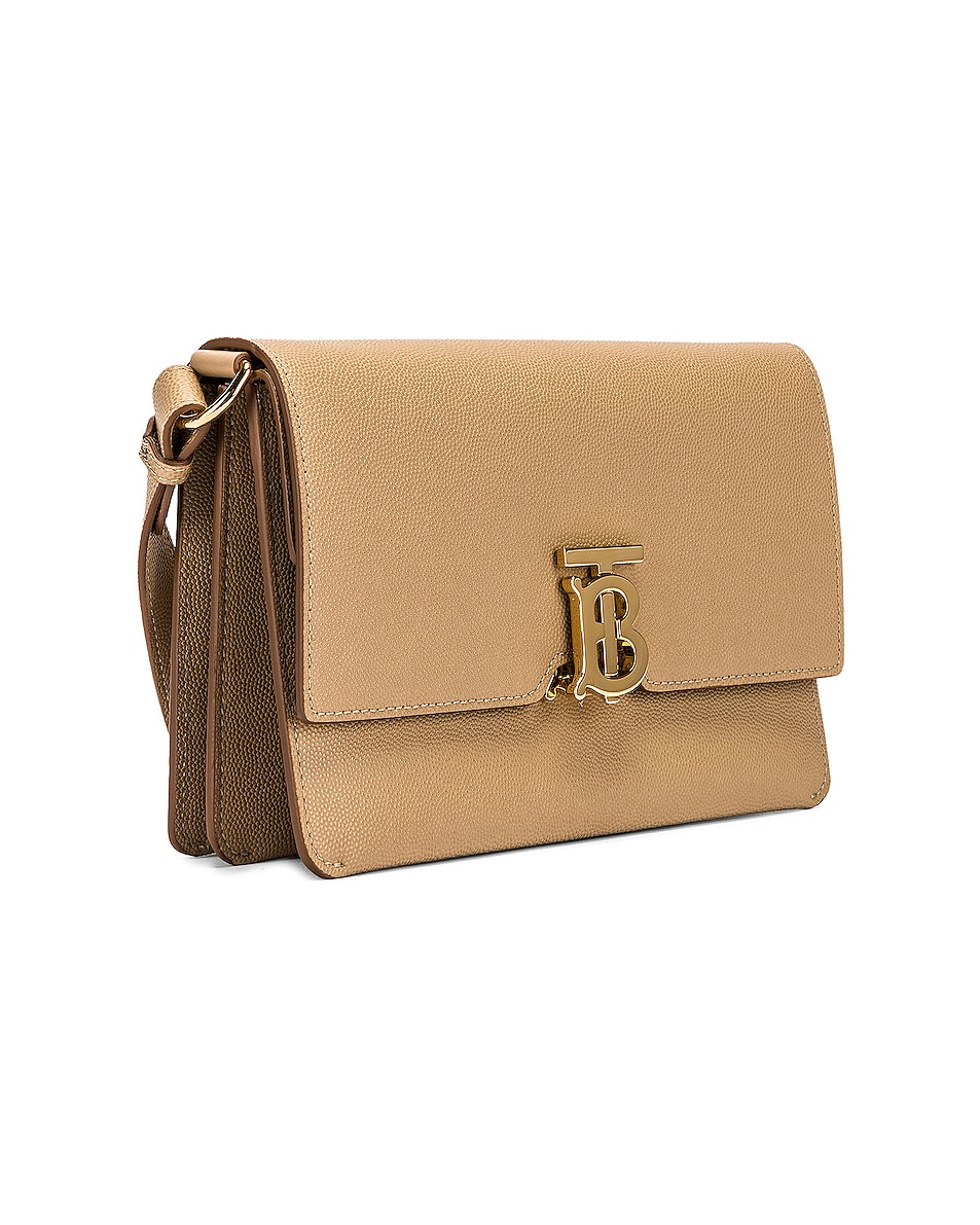 Image 3 of Burberry Albion Small Grainy Bag in Archive Beige