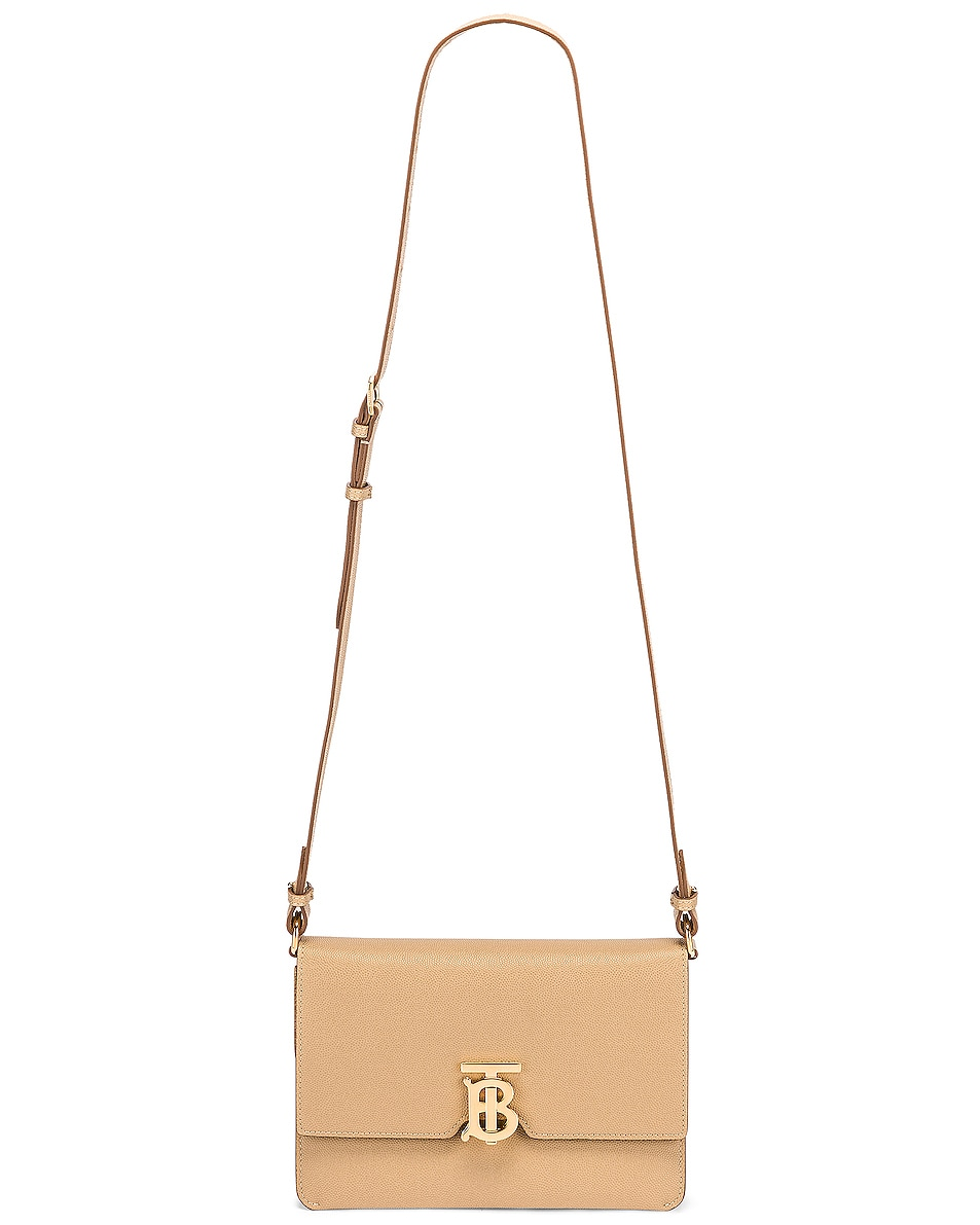 Image 5 of Burberry Albion Small Grainy Bag in Archive Beige