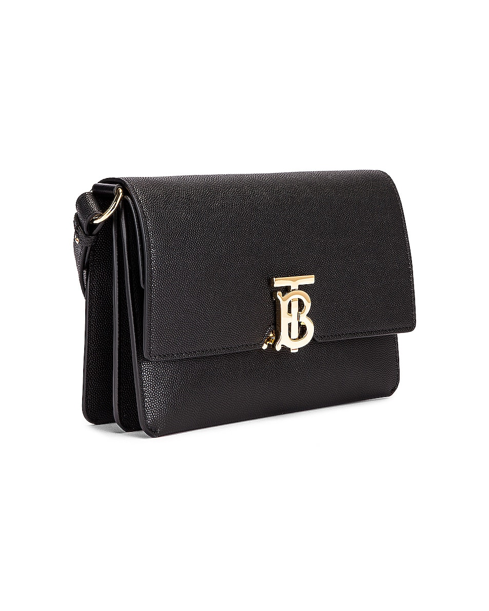Image 3 of Burberry Albion Small Grainy Bag in Black