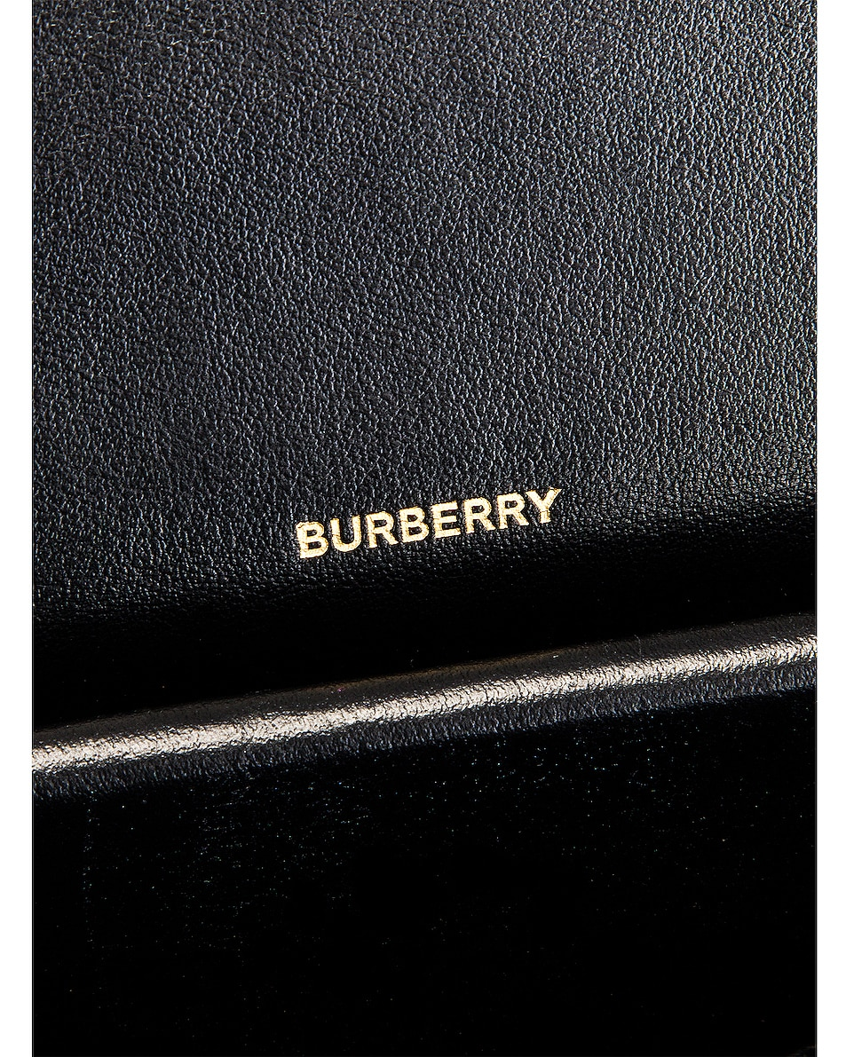 Image 6 of Burberry Albion Small Grainy Bag in Black