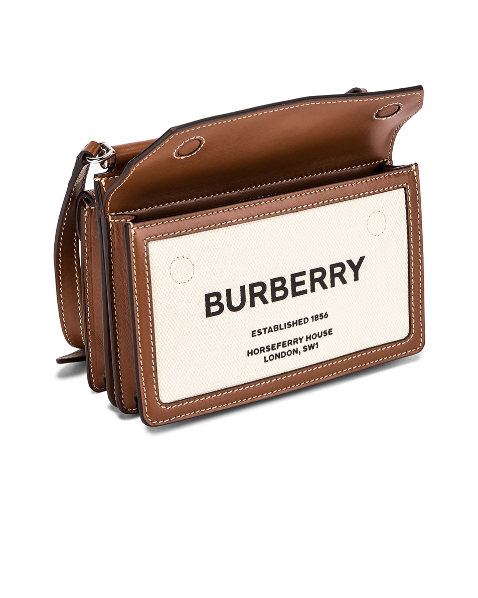 Image 5 of Burberry Baby Title Pocket Bag in Natural & Malt Brown