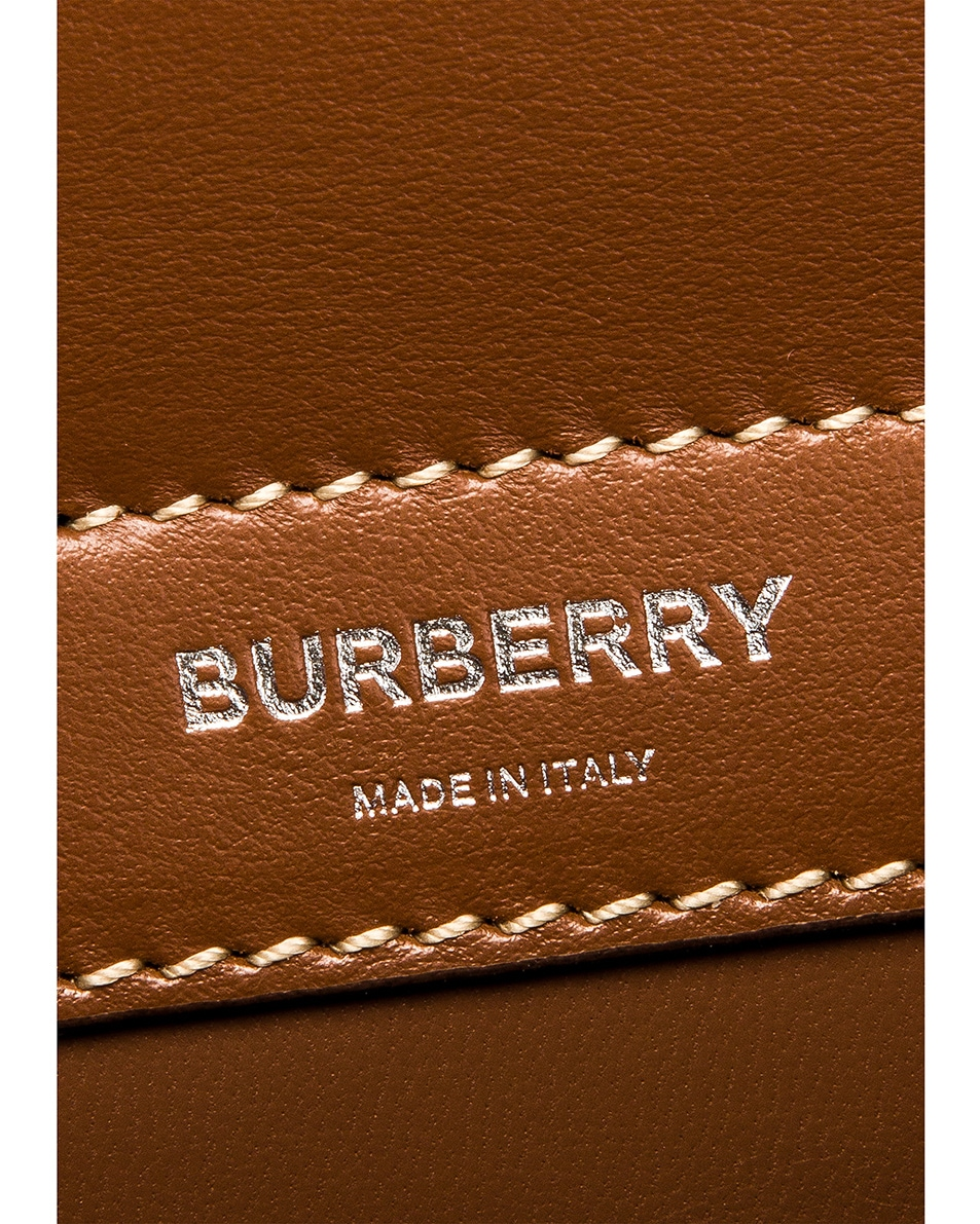 Image 7 of Burberry Baby Title Pocket Bag in Natural & Malt Brown