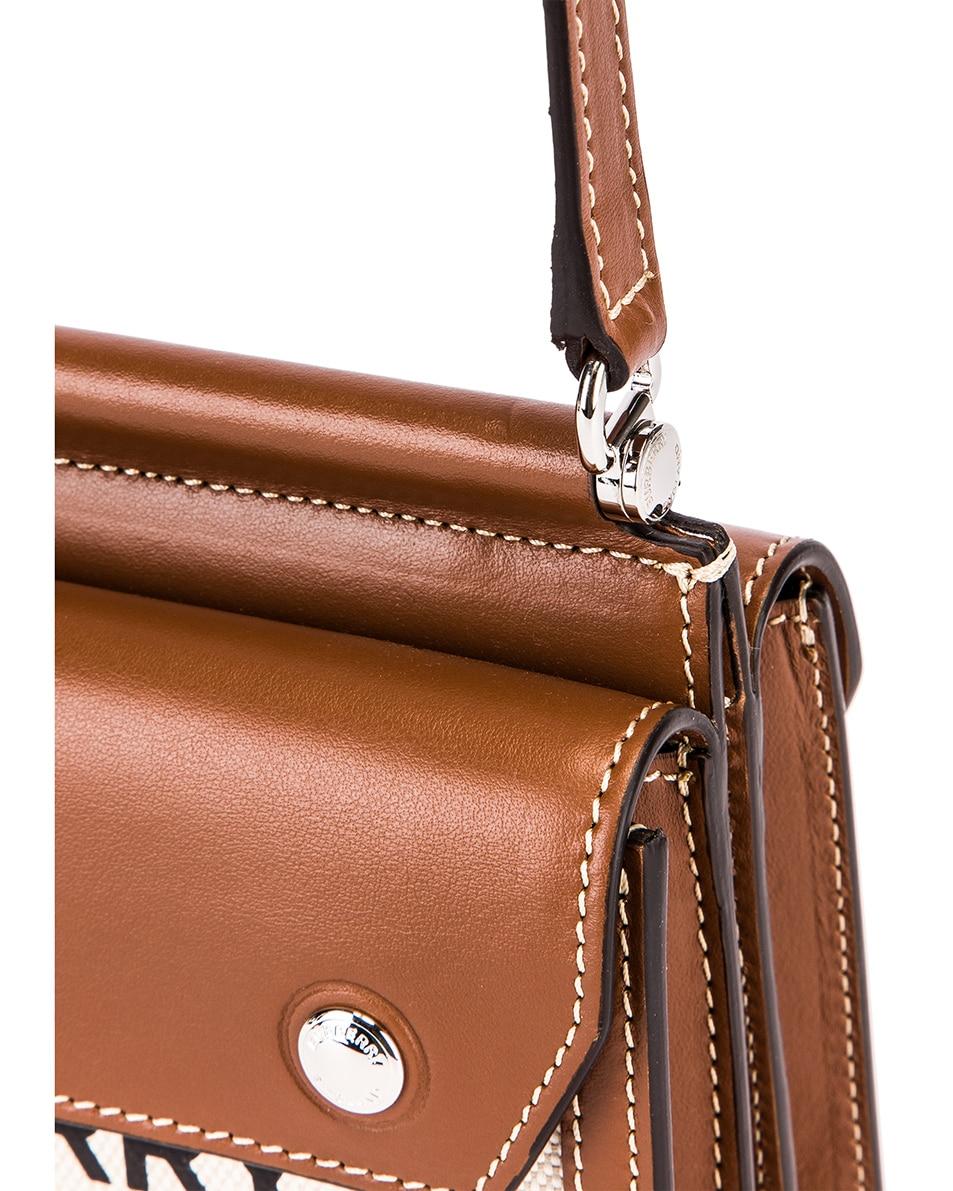 Image 8 of Burberry Baby Title Pocket Bag in Natural & Malt Brown