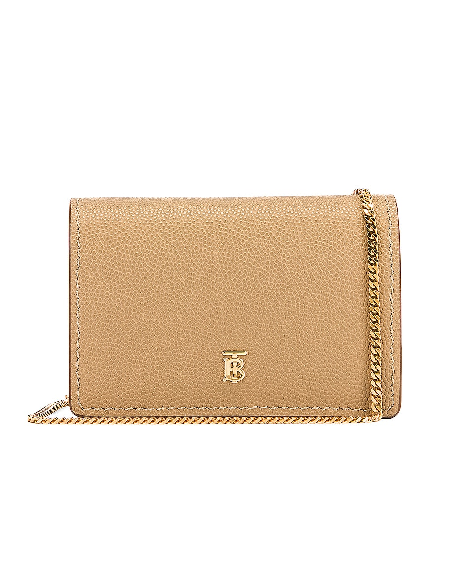 Image 1 of Burberry Jessie Card Case Crossbody Bag in Archive Beige
