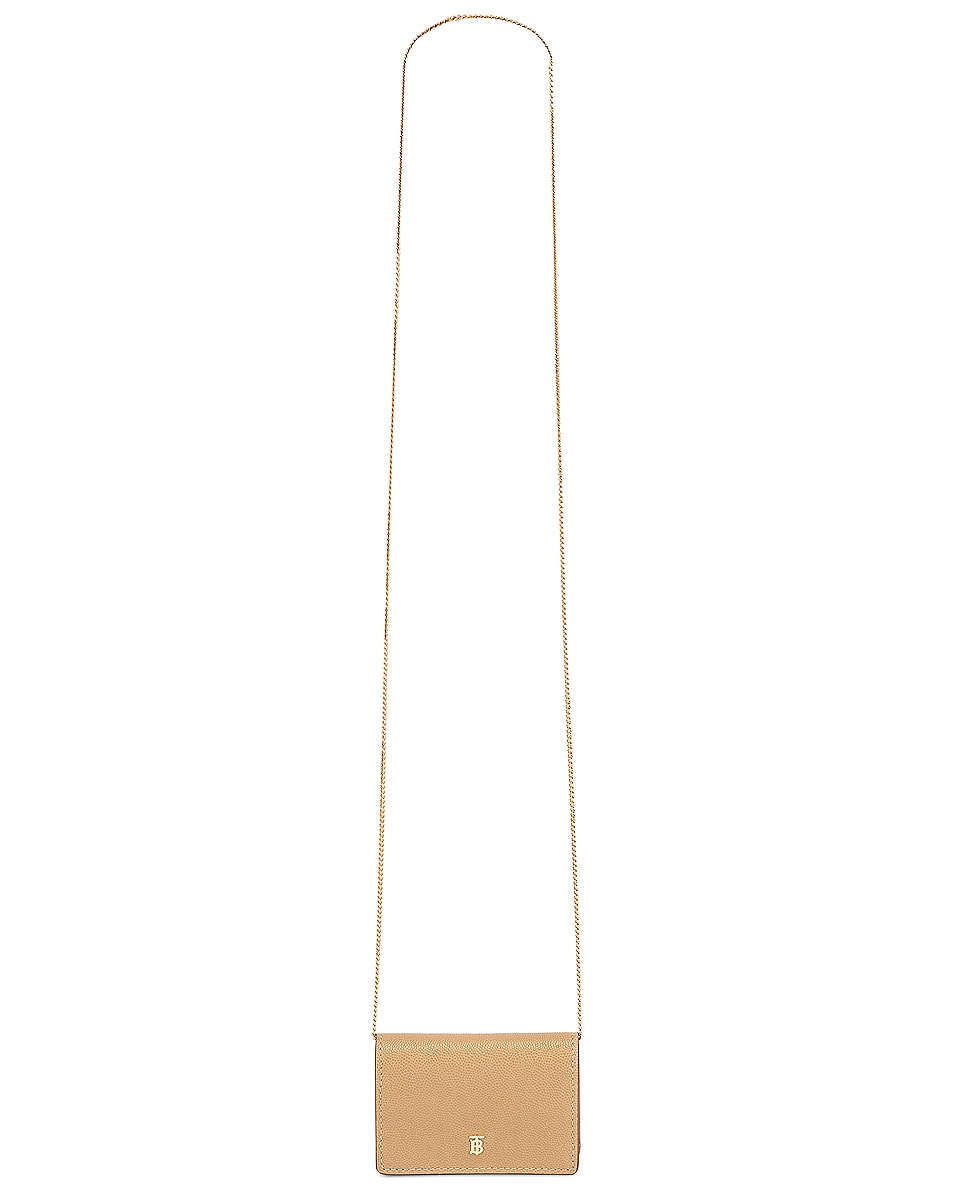 Image 6 of Burberry Jessie Card Case Crossbody Bag in Archive Beige
