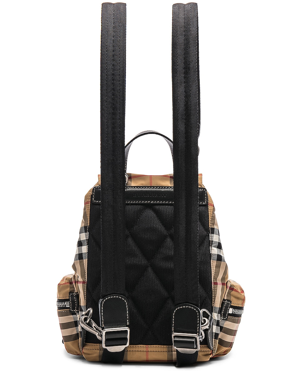 Image 3 of Burberry Small Vintage Check Backpack in Antique Yellow