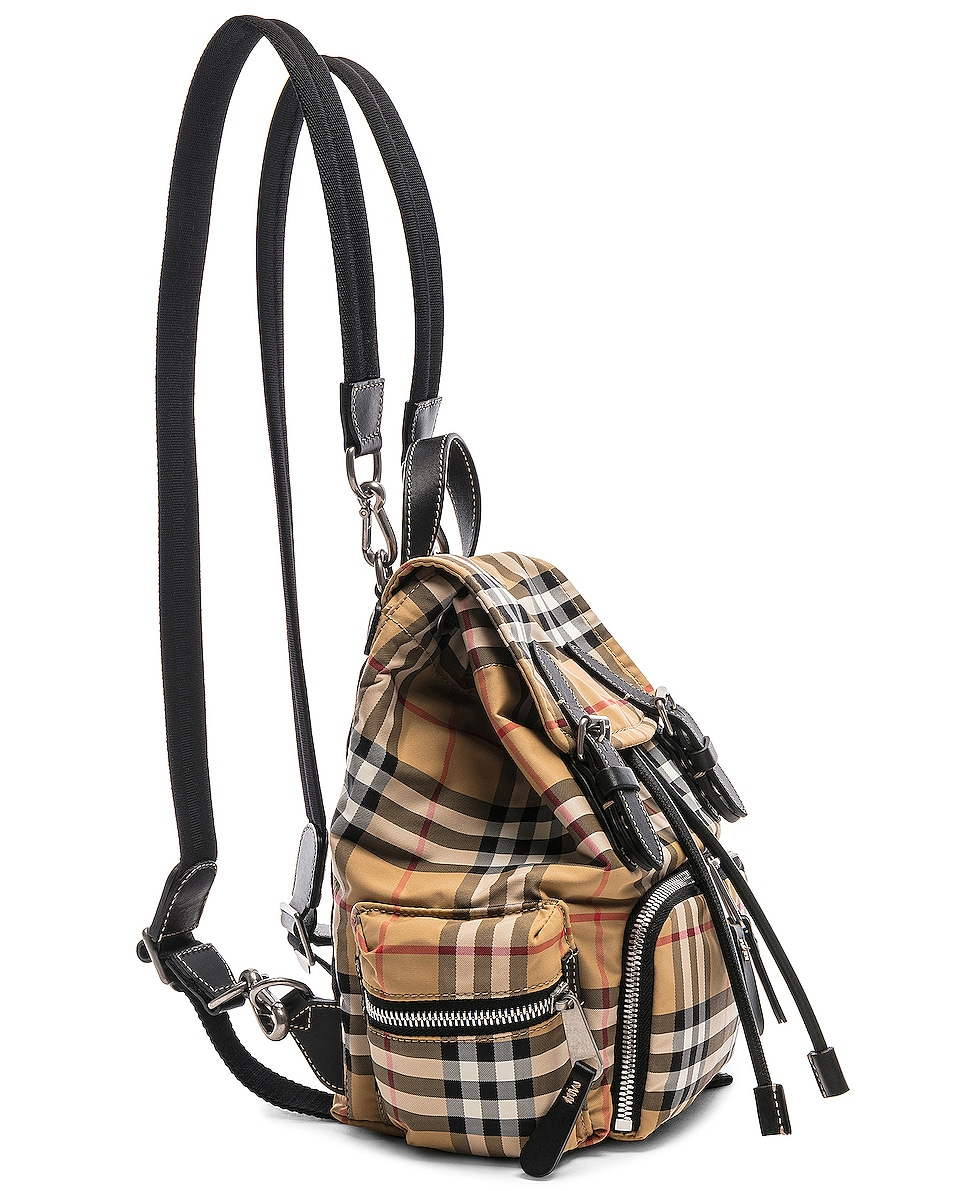Image 4 of Burberry Small Vintage Check Backpack in Antique Yellow