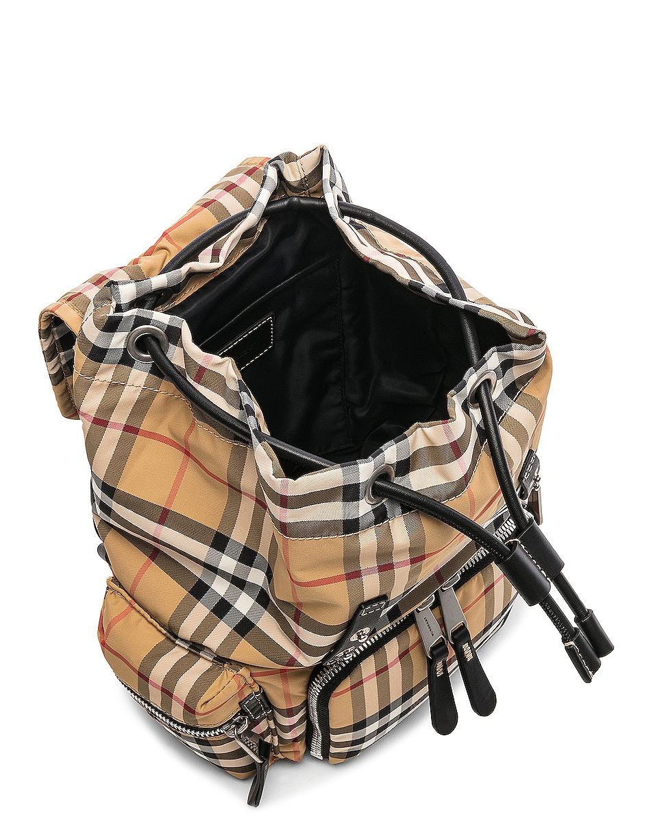 Image 5 of Burberry Small Vintage Check Backpack in Antique Yellow