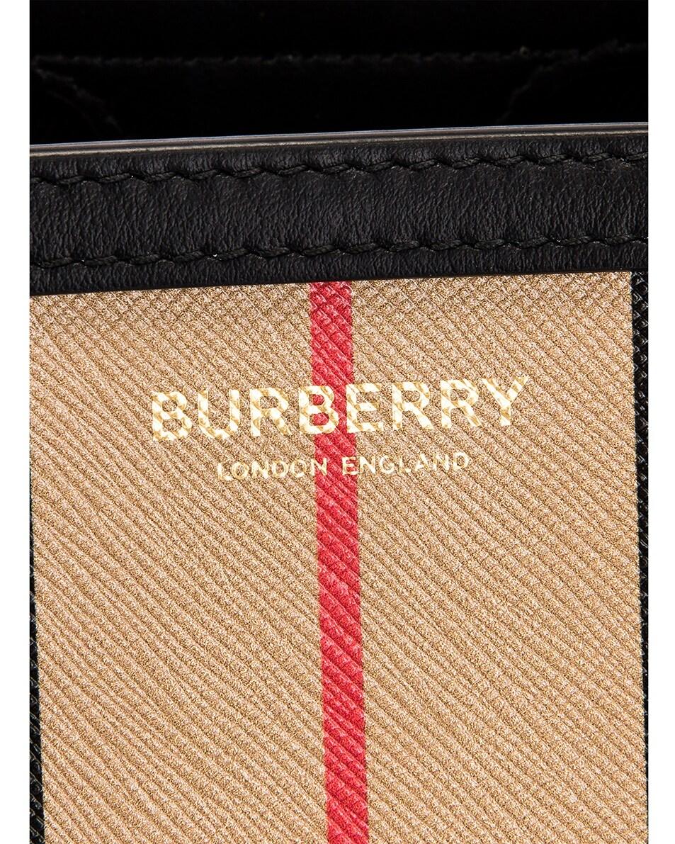 Image 8 of Burberry Small Icon Stripe Book Tote in Archive Beige