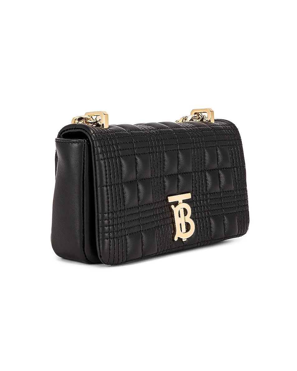 Image 4 of Burberry Monogram Lola Crossbody Bag in Black