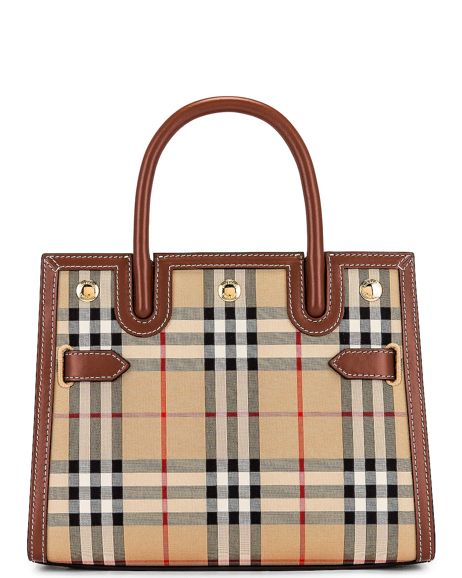 Image 1 of Burberry Small Double Handle Tote in Archive Beige