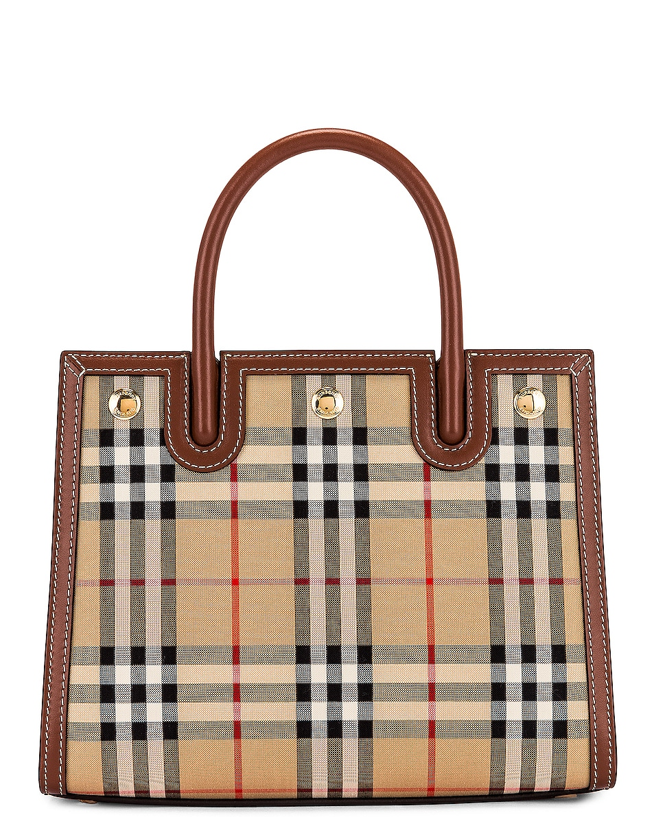 Image 3 of Burberry Small Double Handle Tote in Archive Beige