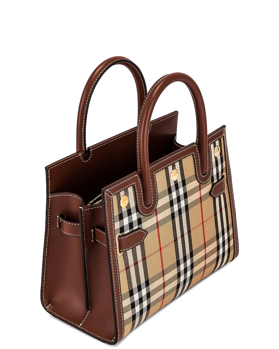 Image 5 of Burberry Small Double Handle Tote in Archive Beige