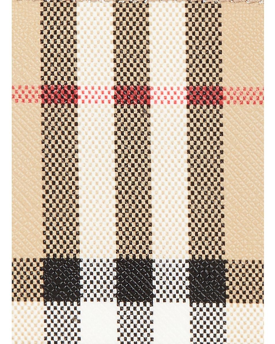 Image 6 of Burberry Somerset Vintage Check Zip Card Wallet in Black