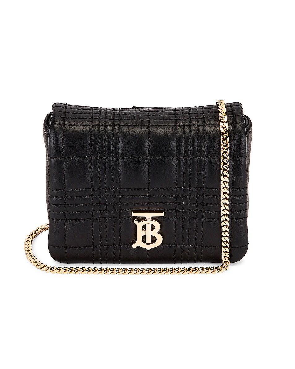Image 1 of Burberry Monogram Square Lola Crossbody Bag in Black