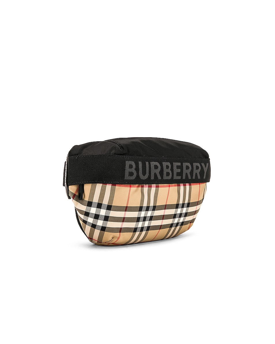 Image 4 of Burberry Sonny Fanny Pack in Archive Beige