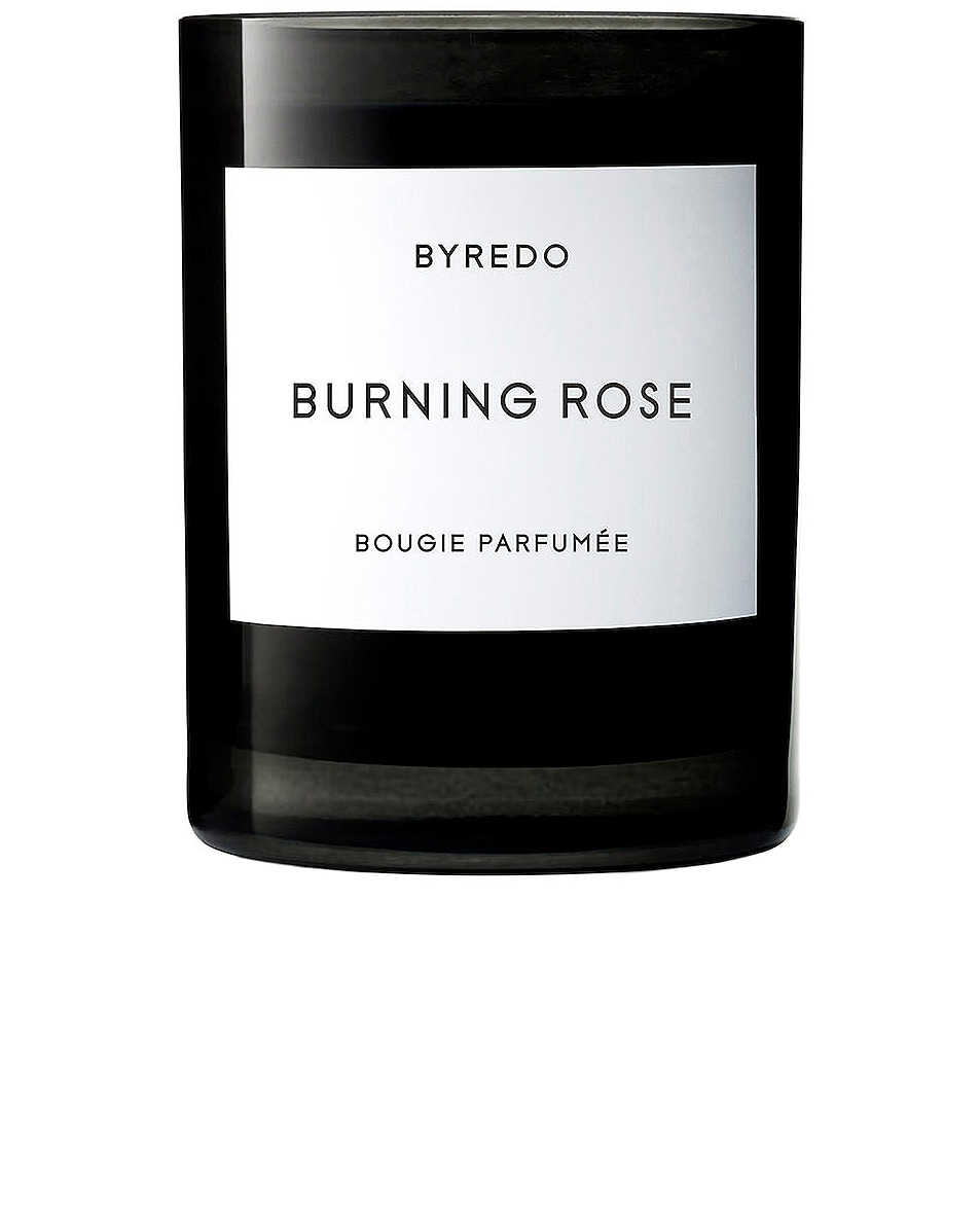 Image 1 of Byredo Burning Rose Candle in