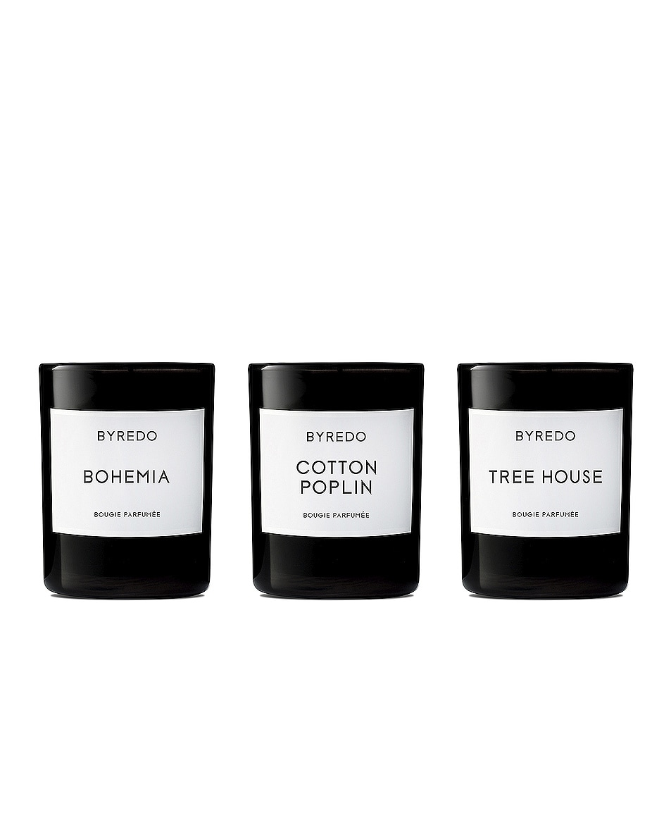 Image 1 of Byredo Mini Candle Trio Set Bois in