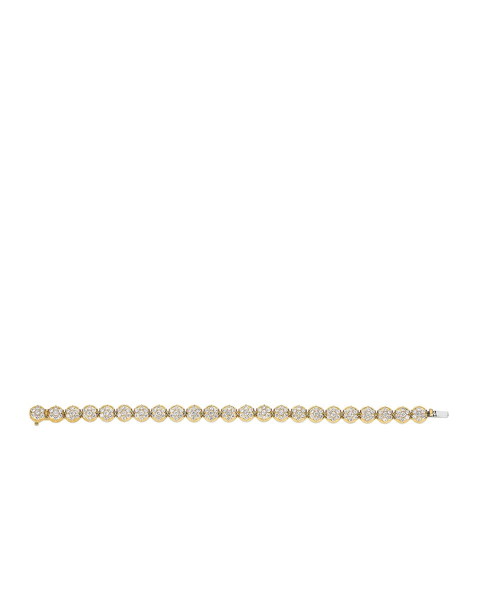 Image 3 of Carbon & Hyde Crown Tennis Bracelet in Gold