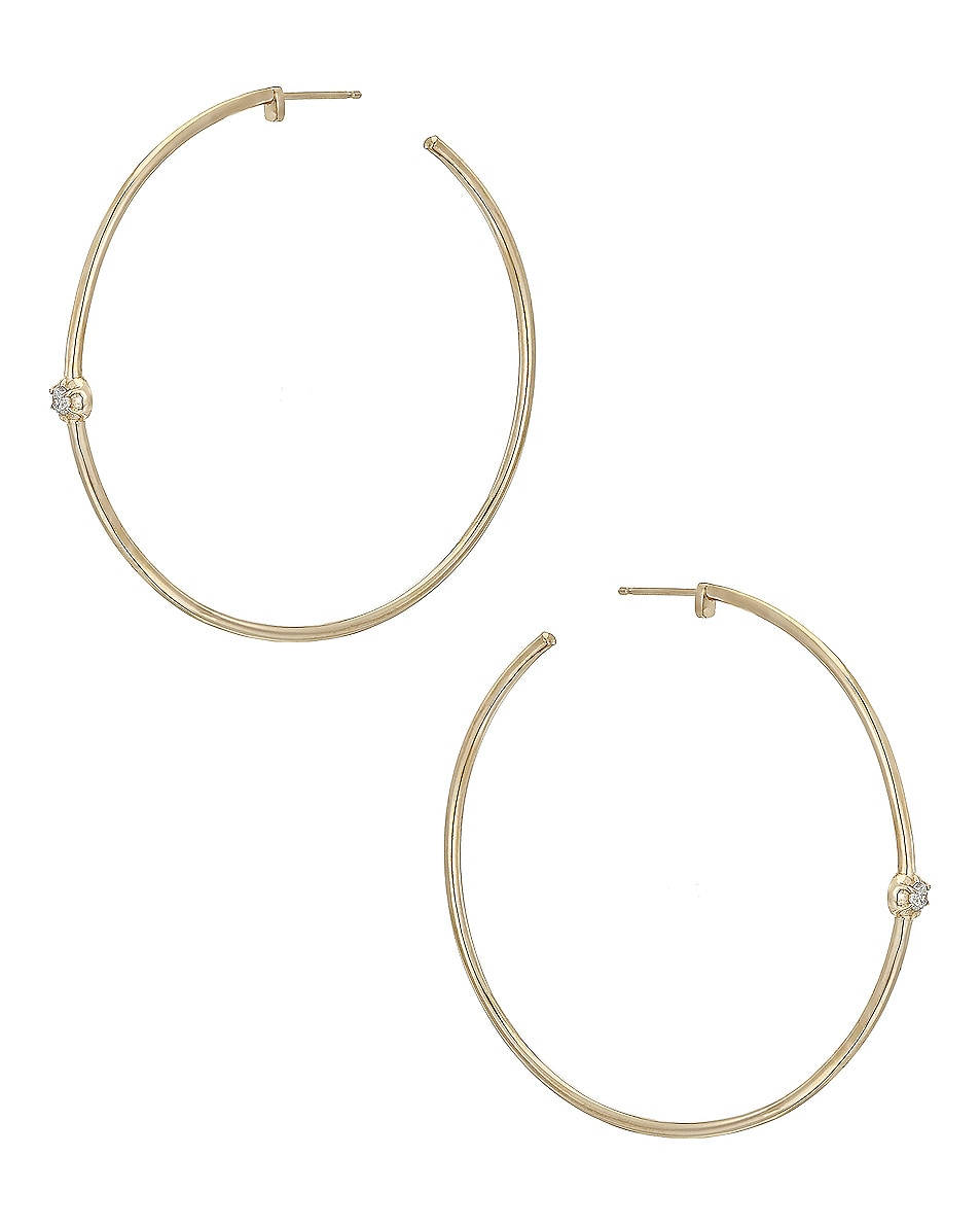 Image 1 of Carbon & Hyde Rosette Hoops in Gold